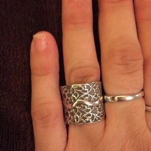 Sterling Silver Silpada Filigree Ring